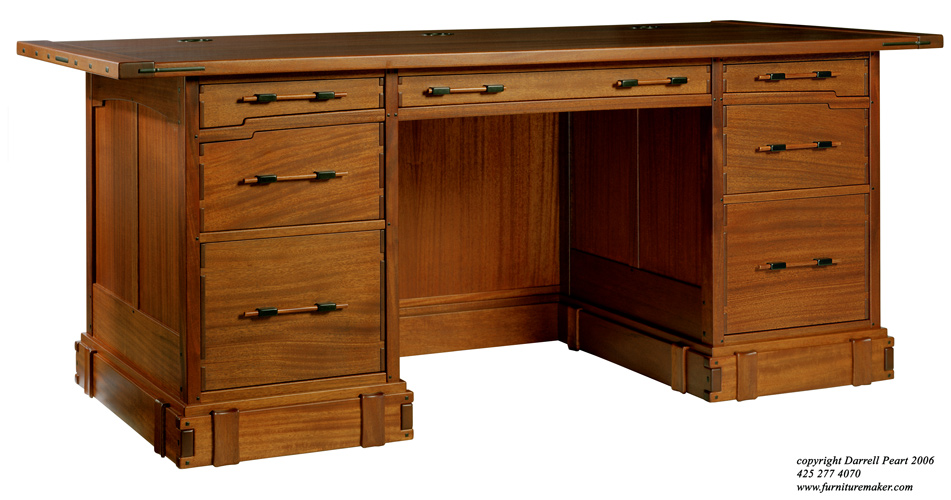 This ... - Aurora Pedestal Desk In The Greene & Greene Style – Darrell Peart