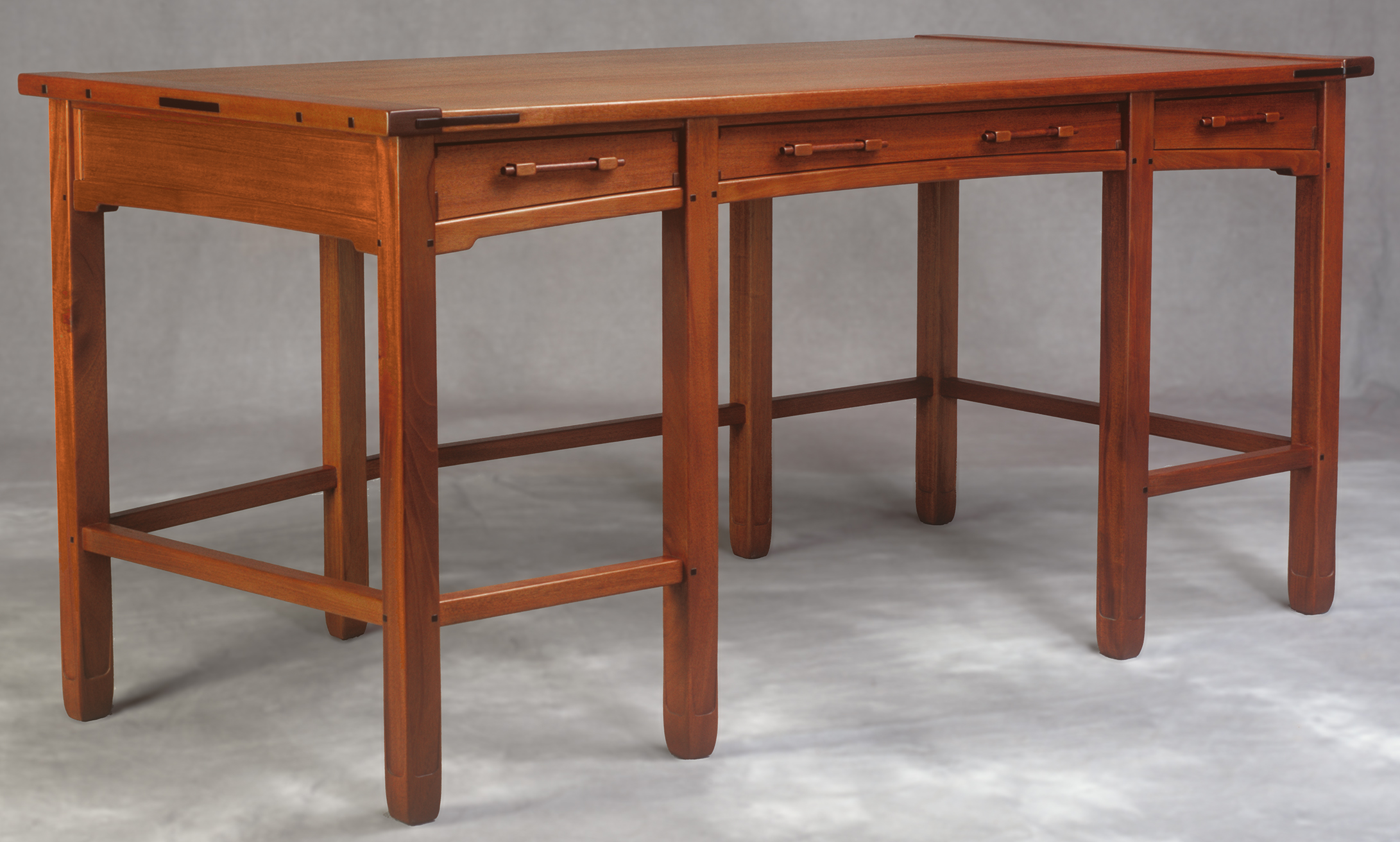 Aurora Table Desk by Darrell Peart in the style of Greene and Greene